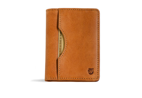 Long slim wallet 'Uptown' (Caramel color)