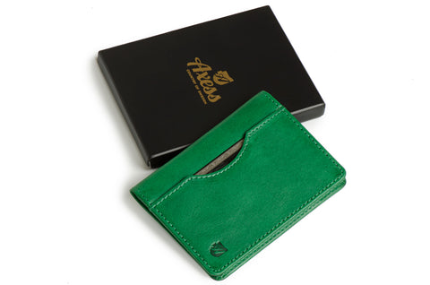 Long slim wallet 'Uptown' (Green color)
