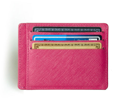 Saffiano Wallet, Minimalist Wallet in Tuscany leather from Axess