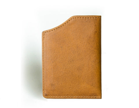 """Mirage"" - Vegetable Tanned Leather RFID-blocking Mini Wallet (caramel)"