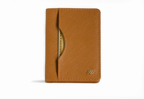 Long slim wallet 'Uptown' (Saffiano caramel color)