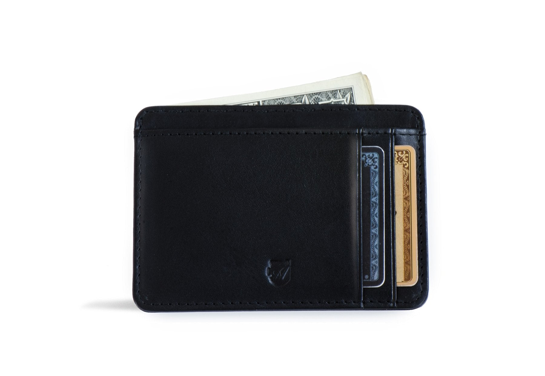 Front Pocket Id Wallet - Vegetable Tanned Black