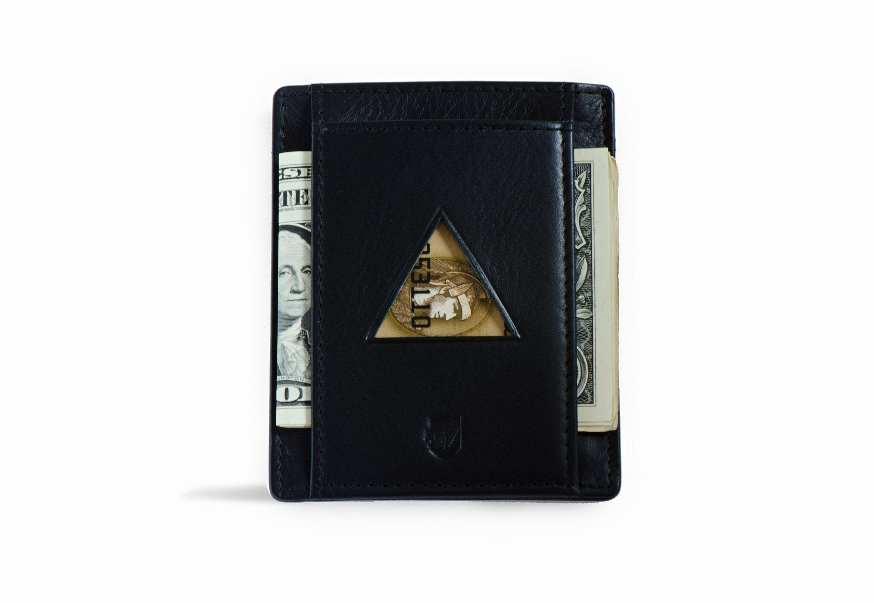 Thin Wallet - Vegetable Tanned Black