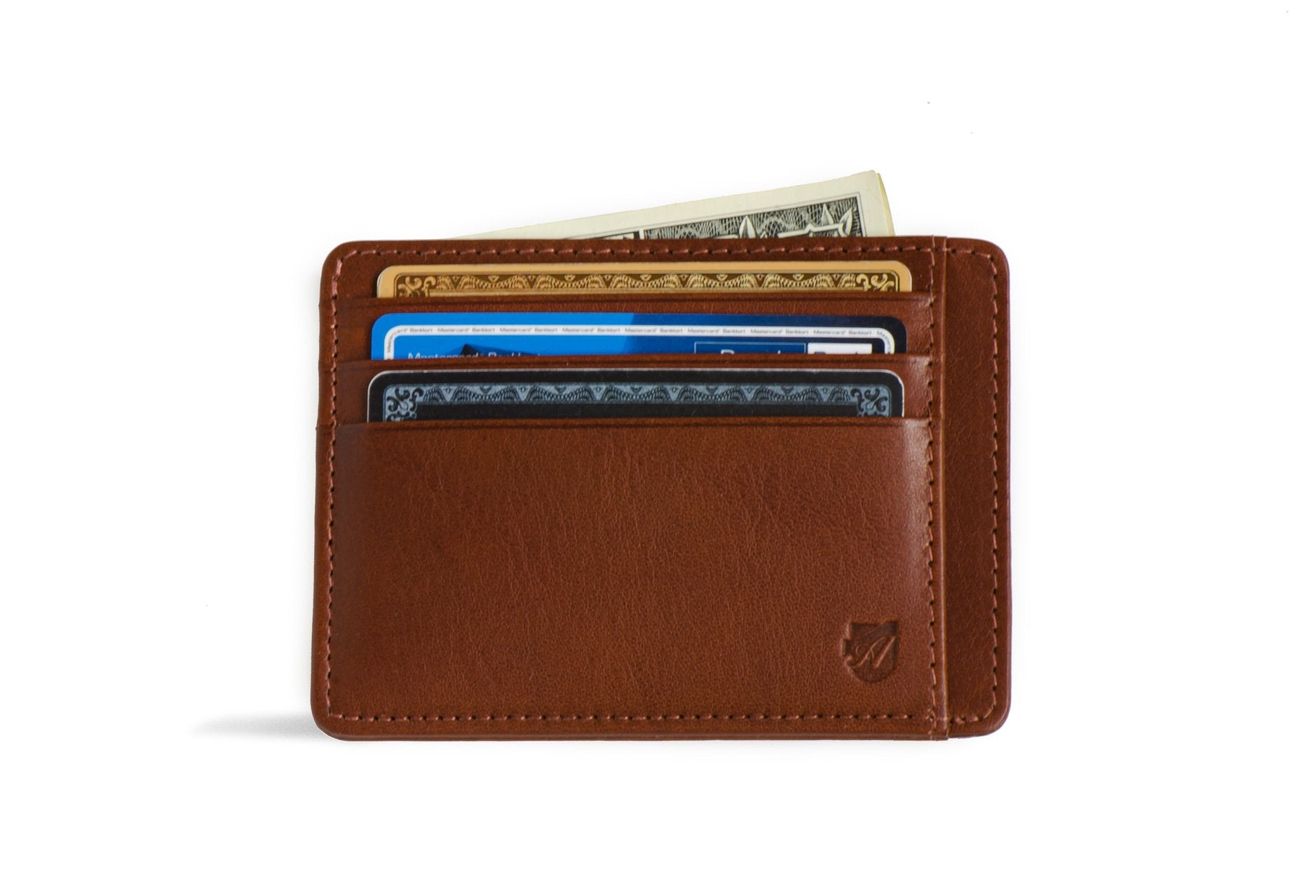 Minimalist Wallet - Vegetable Tanned Cognac