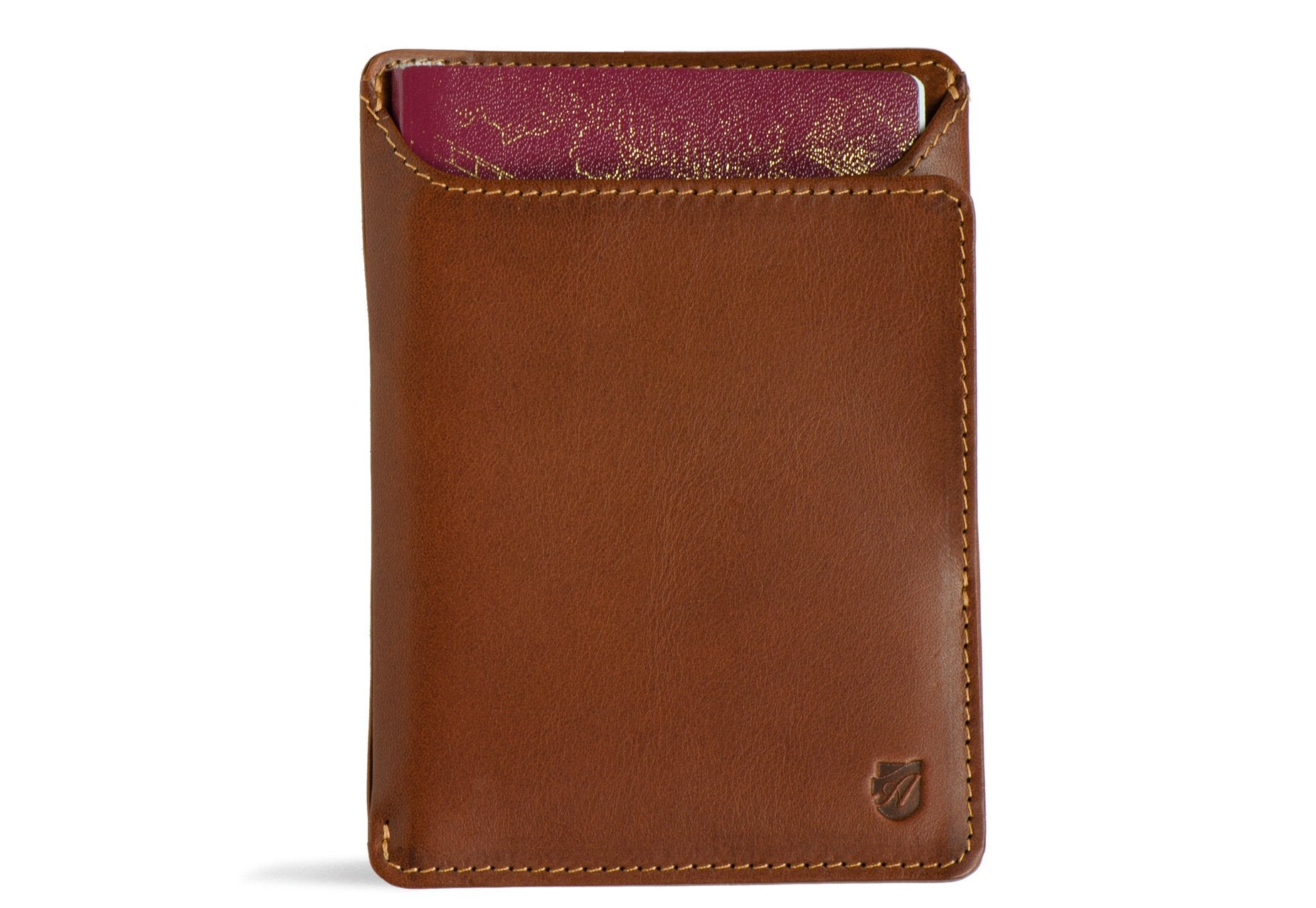 Rfid Passport Wallet - Cognac