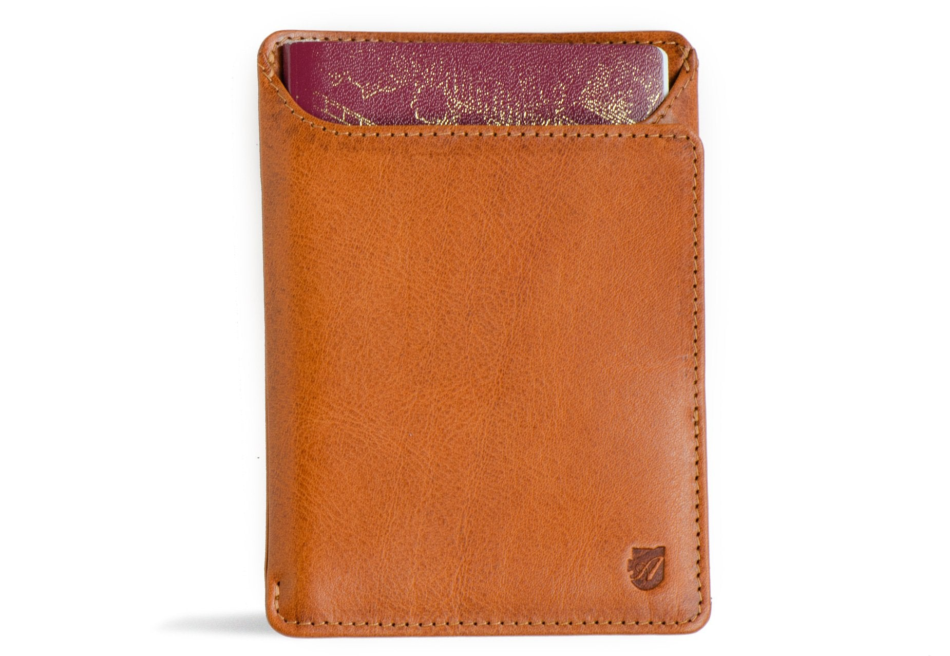Rfid Passport Wallet - Caramel