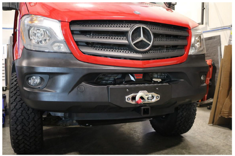 Mercedes Sprinter front hidden winch mount bumper