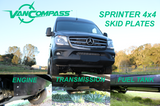VAN COMPASS™ MERCEDES 4X4 SPRINTER SKID PLATE SYSTEM (2015-2018 2500 OR 3500)