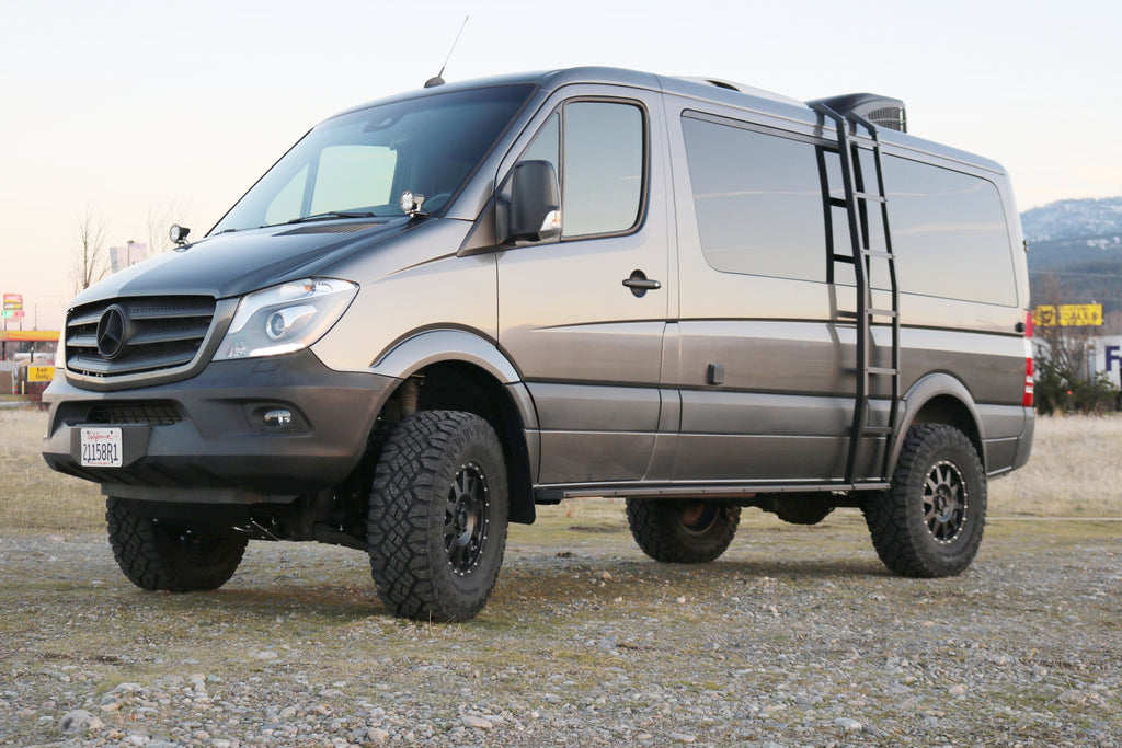 Mercedes Sprinter 4X4 >> Stage 6 Van Compass Striker 4x4 Sprinter 2 Lift Kit With Fox Adjustable Shocks And Front Sumo Springs 2007 Current 2500 4wd Single Rear Wheel