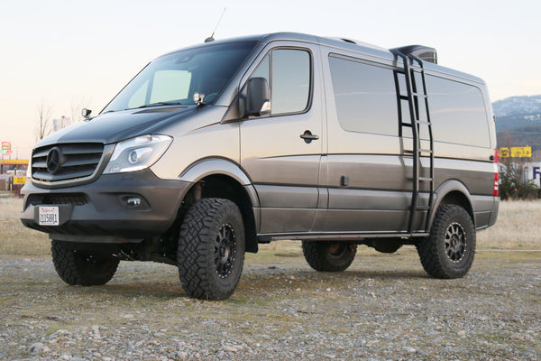 "STAGE 6 - VAN COMPASS™ STRIKER 4X4 SPRINTER 2"" LIFT KIT WITH FOX ADJUSTABLE SHOCKS AND FRONT SUMO SPRINGS (2007-CURRENT 2500 4WD SINGLE REAR WHEEL)"