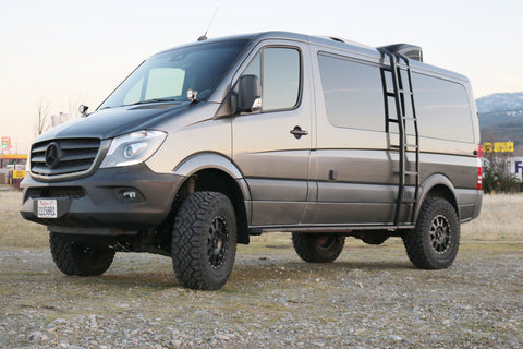 "STAGE 6 - VAN COMPASS™ STRIKER 4X4 SPRINTER 2"" LIFT KIT WITH FOX ADJUSTABLE SHOCKS AND FRONT SUMO SPRINGS (2015+ 2500 4WD SINGLE REAR WHEEL)"