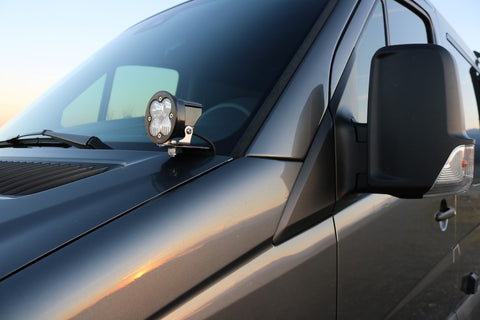Mercedes sprinter LED light pod mount