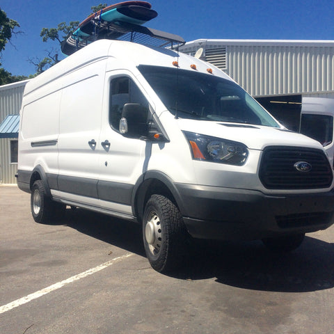 "VAN COMPASS™ FORD TRANSIT TERRAIN 2.5"" SUSPENSION LIFT SYSTEM ('15-PRESENT) 3500HD DUAL REAR WHEEL"