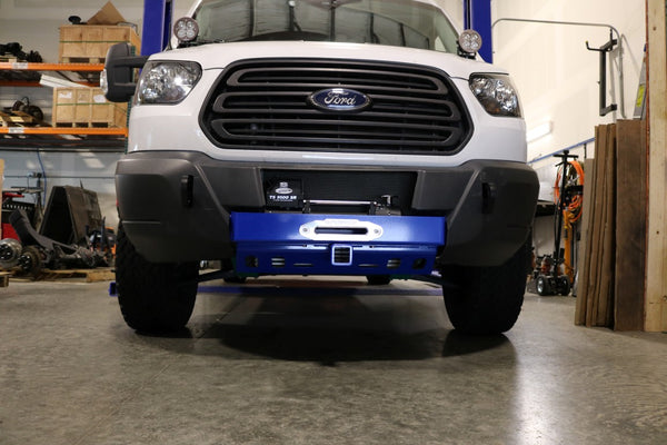 van compass ford transit winch mount  front receiver hitch  van compass