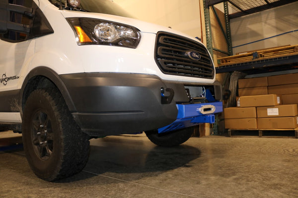 "Ford Transit front winch bumper and 2"" receiver hitch"