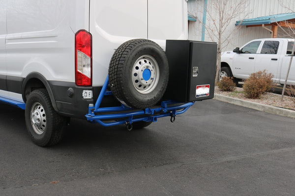 VAN COMPASS™ FORD TRANSIT TERRA TUBE DUAL SWINGOUT REAR BUMPER 2013+