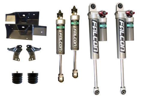 STAGE 2 - VAN COMPASS SUSPENSION PACKAGE WITH ADJUSTABLE REAR SHOCKS - SPRINTER 4X4 (2007-CURRENT 2500)