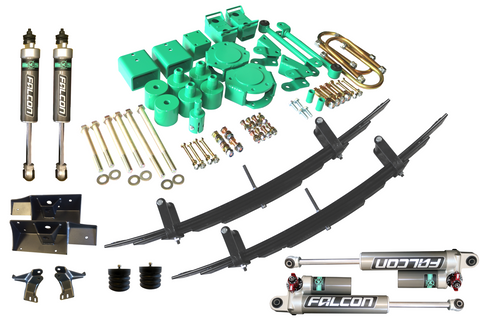 "STAGE 6 - VAN COMPASS™ STRIKER 4X4 SPRINTER 2"" LIFT KIT WITH ADJUSTABLE REAR SHOCKS AND FRONT SUMO SPRINGS (2007-CURRENT 2500 4WD SINGLE REAR WHEEL)"