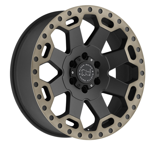 Mercedes Sprinter 2500 (2007-current) - Black Rhino Warloard Wheel 17x8, 6x130 - 52mm offset - Matte Black with Machined Dark Tint Lip