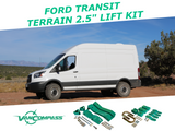 "Ford Transit 2.5"" suspension lift kit"