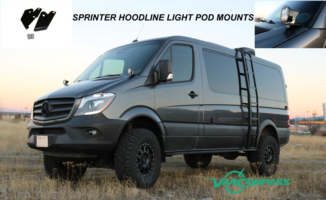 Sprinter LED light pod mounts