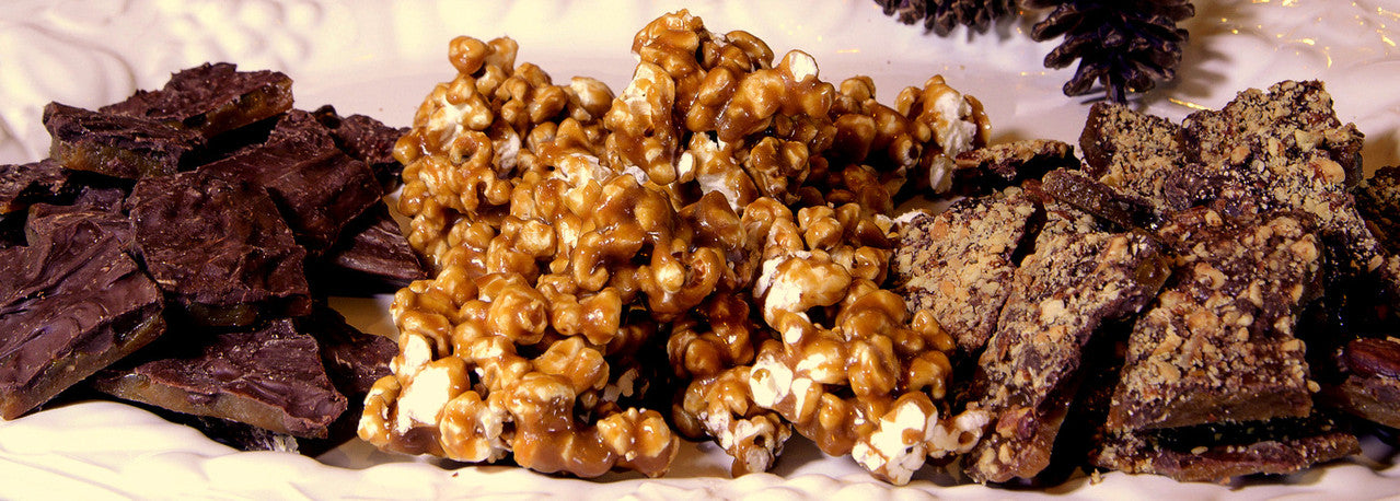 Almond Toffee, Chocolate Toffee, and Toffee Popcorn