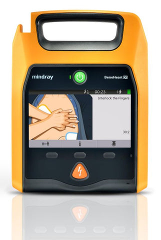 Mindray BeneHeart D1 Public AED :   Comprising: D1 AED Public AED, Disposable battery, Electrode Pads (Adult)