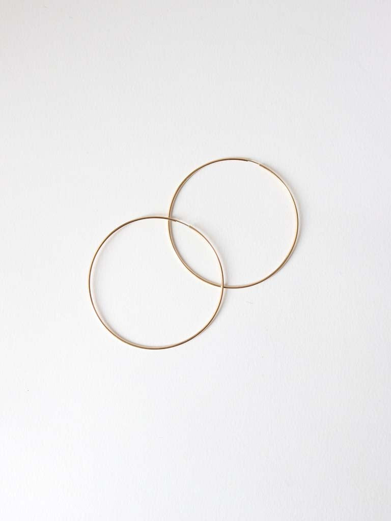 Hoop Earrings Gold | 50mm and 70mm