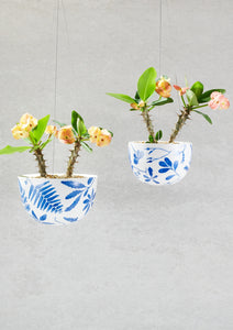 Blue Botanical Planter small