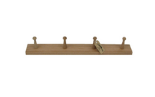 Load image into Gallery viewer, Oak Peg Coat Rack
