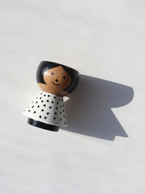 Girl with Black Triangles Egg Cup