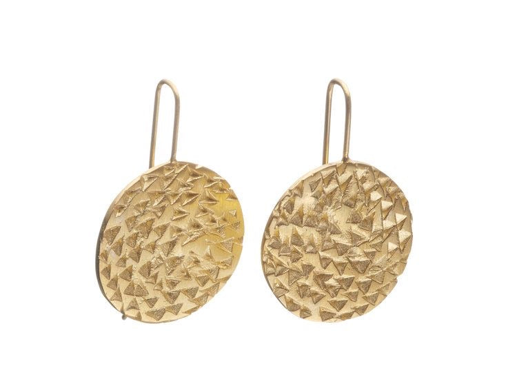 Round Texture Earrings