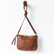 Load image into Gallery viewer, Woven Pouch Bag | Cognac