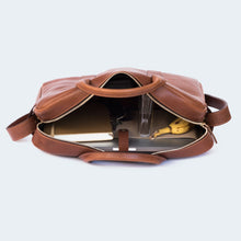 Load image into Gallery viewer, Leather Briefcase Chestnut