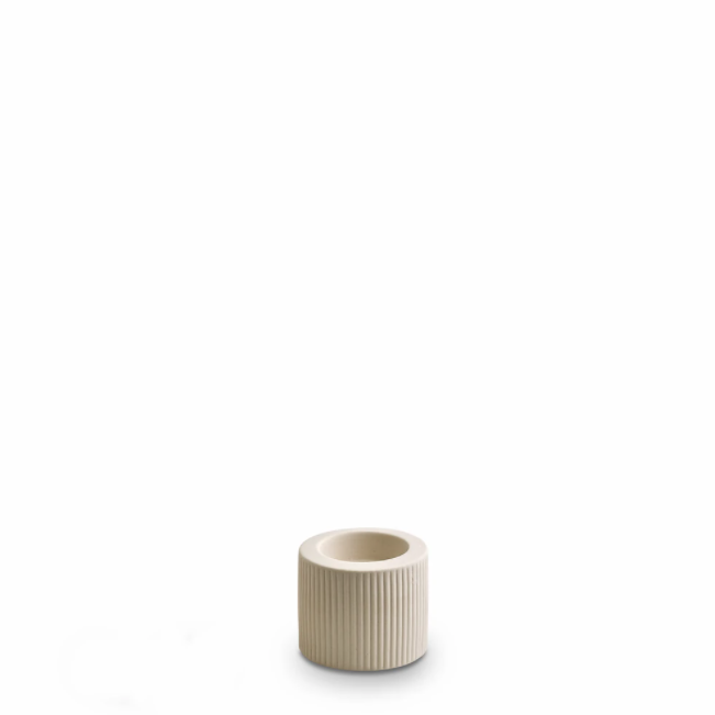 Ribbed Infinity Candle Holder | Cream | Small