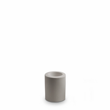 Load image into Gallery viewer, Ribbed Infinity Candle Holder | Light Grey | Medium