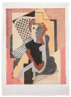 Seated Figure Tea Towel by Albert Gleizes (100% Linen)