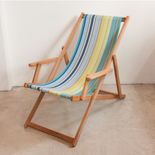 Load image into Gallery viewer, Teak Deckchair with Arms | Outdoor UV resistant fabric