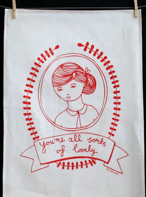 'You're All Sorts of Lovely' Tea Towel