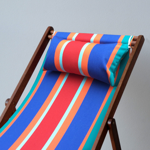 Teak Deckchair with Arms | Outdoor UV resistant fabric