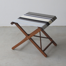 Load image into Gallery viewer, Folding Stool - Synthetic Stripe