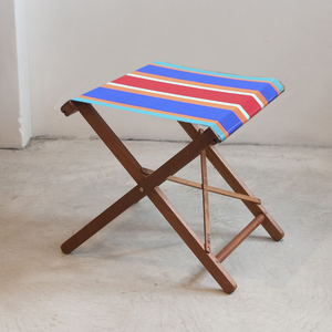 Folding Stool - Synthetic Stripe
