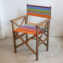 Load image into Gallery viewer, Teak Director Chair | Outdoor UV resistant fabric