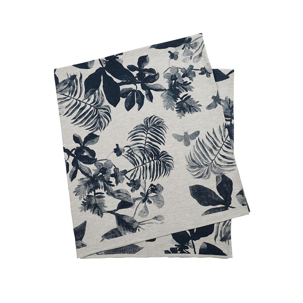 Palms Indigo table cloth