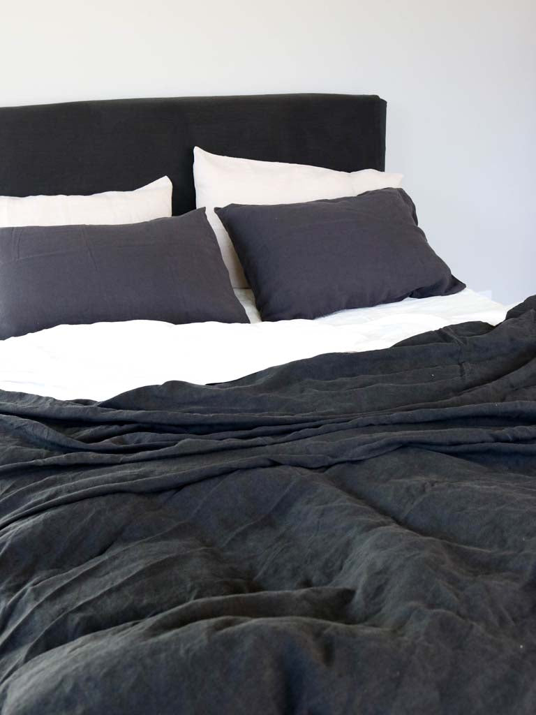 Luxury Linen | Showing Charcoal, Stone & Kohl