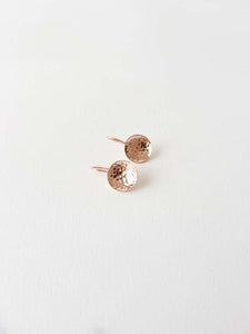 Hammered dish Earrings | Beaten Rose Gold