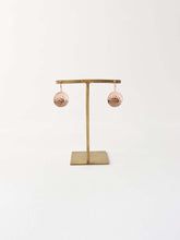 Load image into Gallery viewer, Hammered dish Earrings | Beaten Rose Gold