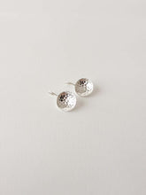 Load image into Gallery viewer, Hammered Dish Earrings | Silver