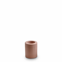 Load image into Gallery viewer, Ribbed Infinity Candle Holder | Ochre | Medium