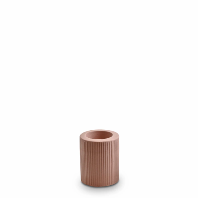 Ribbed Infinity Candle Holder | Ochre | Medium